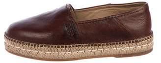 Prada Leather Espadrilles