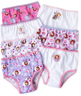 JCPenney Novelty Licensed Disney Sofia 7-pk. Brief Panties - Girls 2t-6