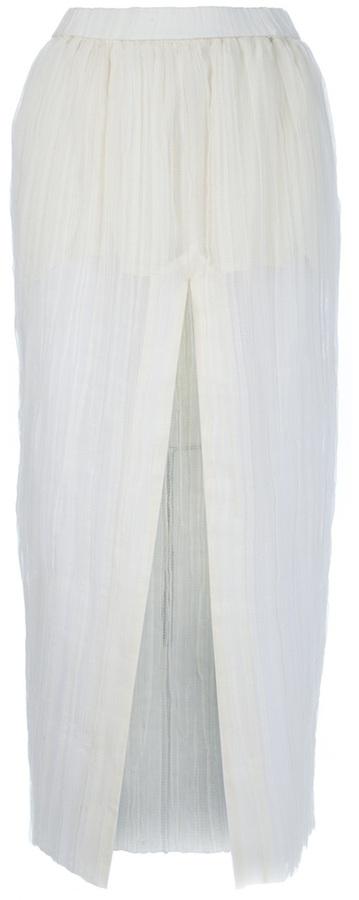 Glenn Martens 'Siebel' semi-sheer pleated skirt