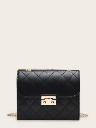 Shein Quilted Flap Chain Crossbody Bag
