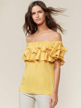 e4e20656f4b1c3 Ruffle Off Shoulder Top - ShopStyle