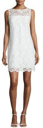 Trina Turk Sleeveless Lace Sheath Dress, Whitewash $348 thestylecure.com