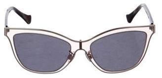 Balenciaga Polarized Wayfarer Sunglasses