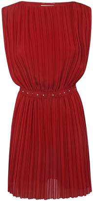 4cb2362f13f Red Pleated Dress - ShopStyle