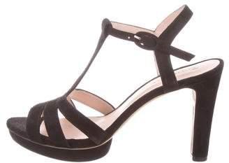 Repetto Suede Platform Sandals