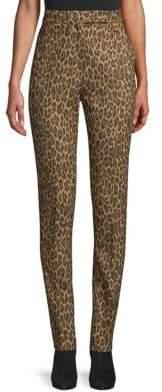 Max Mara Osmunda Camel Leopard Pleated Pants