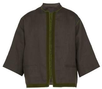 Haider Ackermann Oversized Linen Shirt - Mens - Green