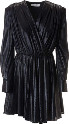 MSGM Fitted Waist Wrapped Dress