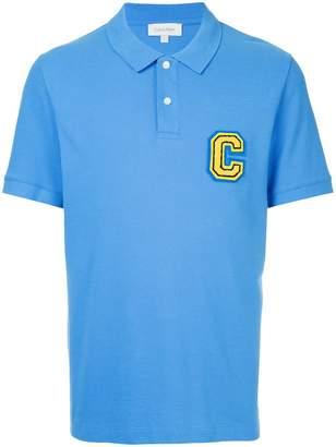 CK Calvin Klein logo plaque polo shirt