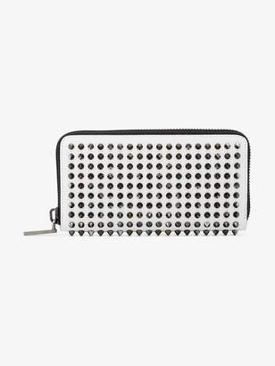 Christian Louboutin white Panettone stud embellished leather wallet