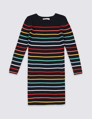 Marks and Spencer Striped Pure Cotton Dress (3-16 Years)