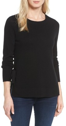 Petite Women's Halogen Side Tie Cashmere Sweater $129 thestylecure.com