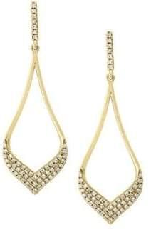 Effy 14K Yellow Gold & Diamond Statement Earrings
