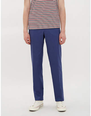 b3524fd53 Polo Ralph Lauren Regular-fit tapered mid-rise tencel and linen-blend  trousers
