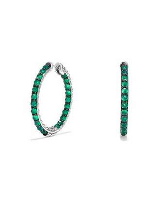 David Yurman Osetra Faceted Green Onyx Hoop Earrings $875 thestylecure.com