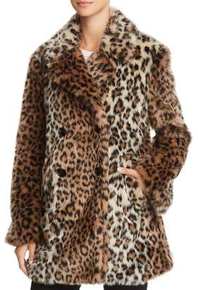 Joie Tiaret Leopard-Printed Faux Fur Coat