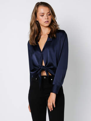 d2ce679517616 Navy Blue Silk Shirt Women - ShopStyle Australia