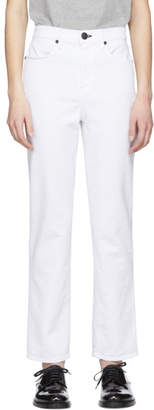 Rag & Bone White Cigarette Jeans