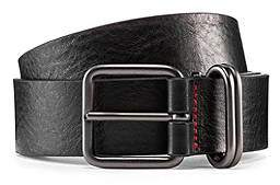 HUGO BOSS Smooth-leather belt with rounded matt-gunmetal hardware