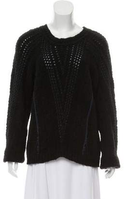 See by Chloe Long Sleeve Crew Neck Sweater