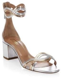 Aquazzura Moon Ray Leather Sandals