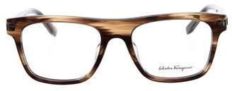 Salvatore Ferragamo Marbled Square Eyeglasses w/ Tags