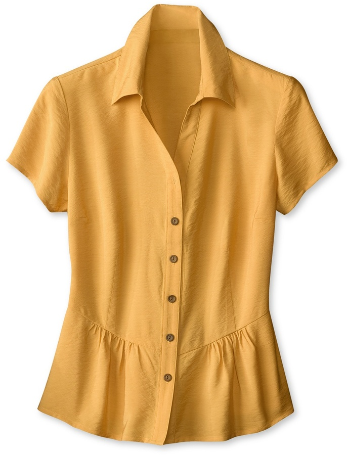 Coldwater Creek Crinkled peplum shirt