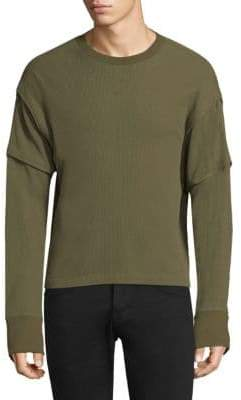 Helmut Lang Rib-Knit Cotton Sweatshirt