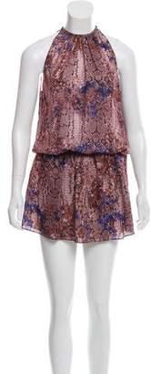 Ramy Brook Silk Animal Print Dress