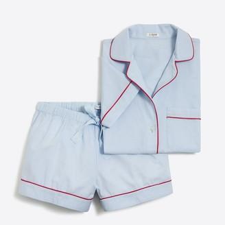 J.Crew Short-sleeve end-on-end pajama set