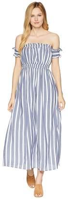 CeCe Billie - Off the Shoulder Striped Maxi Women's Dress