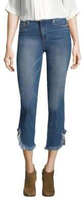 Paige Hoxton High Rise Fray Hem Straight Jeans