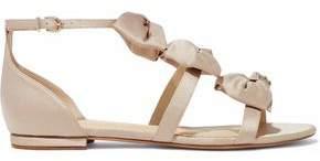 Alexandre Birman Bow-Embellished Satin Sandals