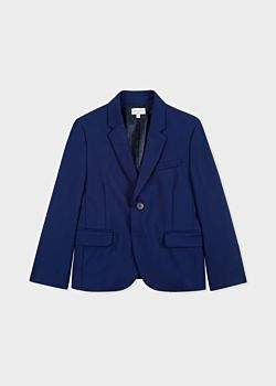Paul Smith Boys' 8-10 Years Cobalt Blue 'A Suit To Smile In' Wool Blazer