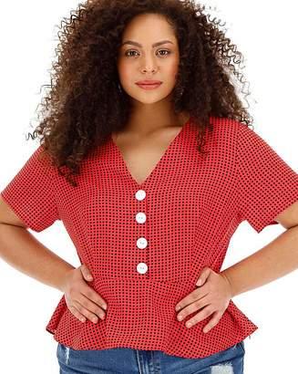 2b9d41376d3 Plus Size Polka Dot Tops - ShopStyle UK