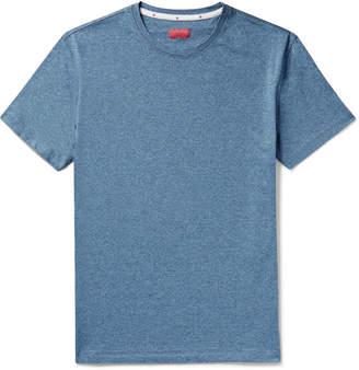 Isaia Melange Cotton-Jersey T-Shirt - Men - Blue