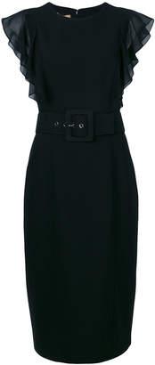 Michael Kors ruffle sleeve pencil dress
