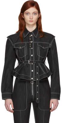 Marques Almeida Black Detachable Sleeve Jacket