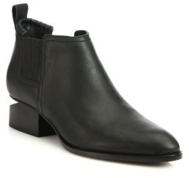Alexander Wang Kori Notch-Heel Leather Boots $495 thestylecure.com