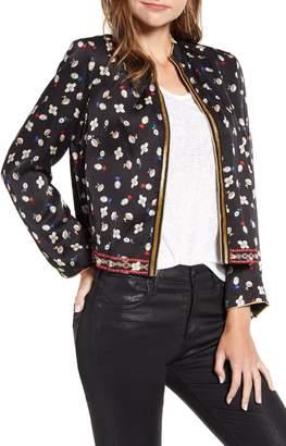 Zadig & Voltaire Vendrix Flower Open Front Jacket