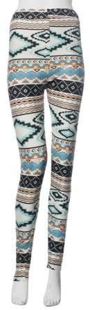 Transer Skinny Geometric Print Stretchy Pants Leggings L