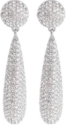 Kenneth Jay Lane Glass crystal pavé teardrop earrings