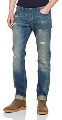 Armani Jeans Men's Dark Slim Fit Rip and Repair Details