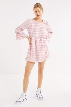 Urban Outfitters Seersucker Long Sleeve Mini Dress