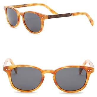 Shwood Men's Quimby Polarized 50mm Rounded Sunglasses
