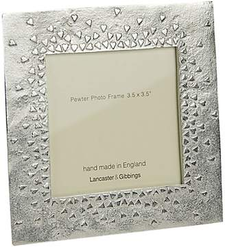 Lancaster and Gibbings Floating Hearts Photo Frame, Silver, 3.5 x 3.5