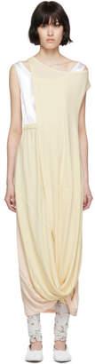 Marni White and Yellow Sleeveless Long Dress