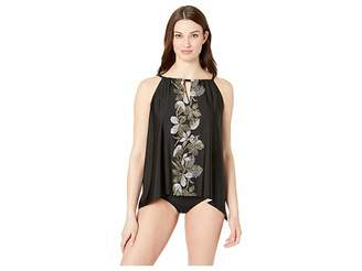 Miraclesuit Petal To The Metal DD-Cup Peephole Tankini Top