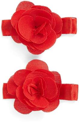 PLH Bows Set of 2 Flower Hair Clips