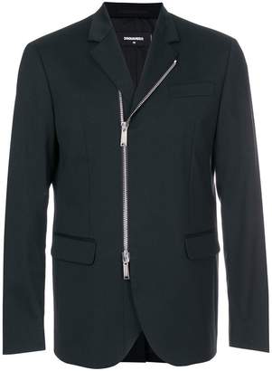 DSQUARED2 slim-fit zipped blazer